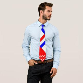Gravata Azul branco vermelho