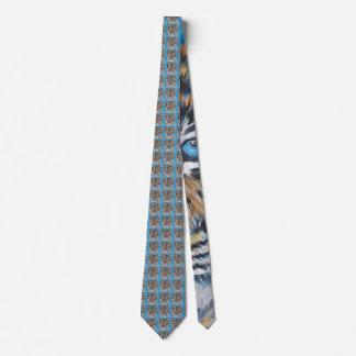 Gravata Azul do tigre