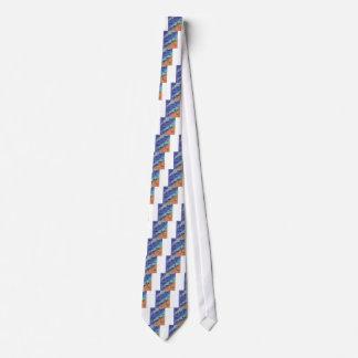 Gravata Azul exótico das palmas do design