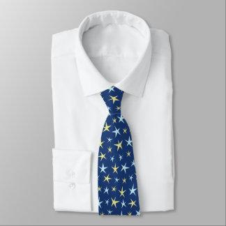 Gravata Azul geométrico dos anos 60 retros do teste padrão