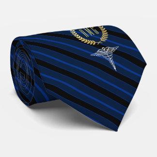 Gravata Azul Monogrammed profissional médico