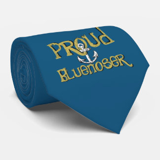 Gravata Azul orgulhoso do laço da âncora de Bluenoser Nova