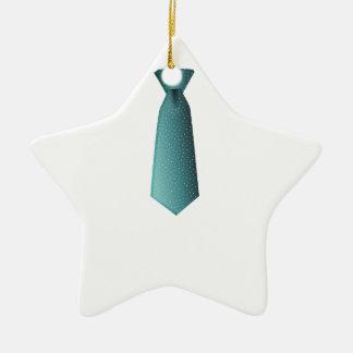 Gravata azul ornamento de cerâmica