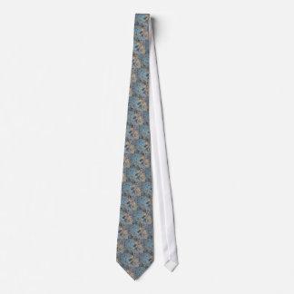 Gravata Azul & ouro abstratos