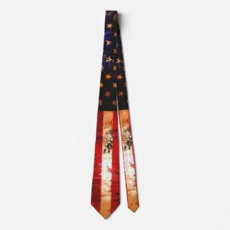 Gravata Bandeira americana oxidada resistida