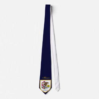 Gravata Bandeira bonita de Illinois