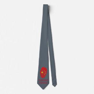 Gravata Bandeira da impressão digital do toque do chinês