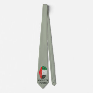 Gravata Bandeira da impressão digital do toque do emirado