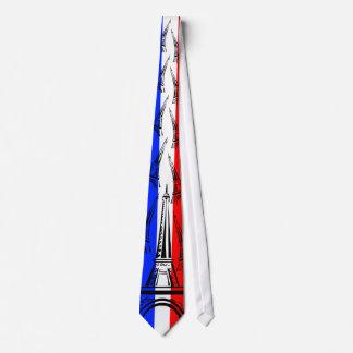 Gravata Bandeira de France e de torre Eiffel