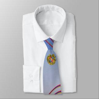 Gravata Bandeira de listras & de brasão de Arménia