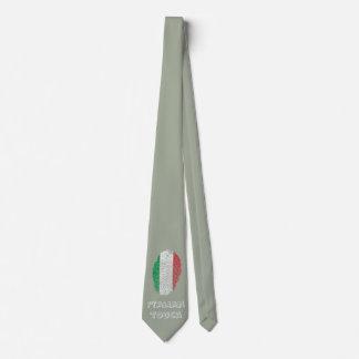 Gravata Bandeira italiana da impressão digital do toque
