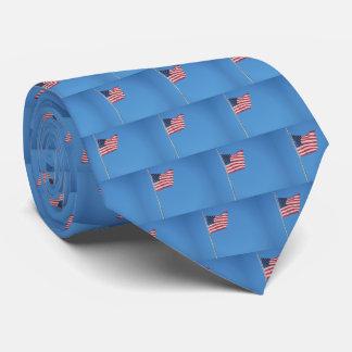 Gravata Bandeira telhada dos EUA contra o céu azul