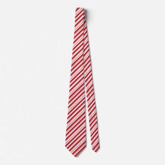 Gravata Bastão listrado vermelho e branco do Natal festivo