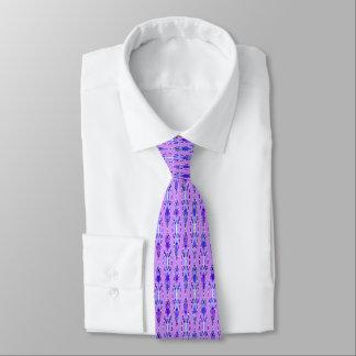 Gravata Batik tribal - lavanda, azul e violeta