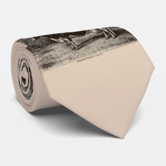 Gravata Bezerra do século XIX de Holstein do impressão