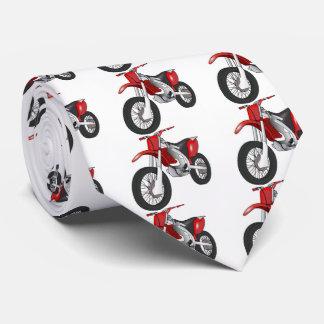 Gravata Bicicleta vermelha da sujeira