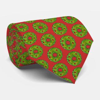 Gravata Biscoito verde vermelho do feriado do Natal da