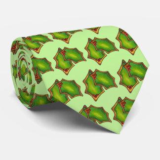 Gravata Biscoito verde vermelho do feriado do Xmas do