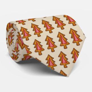 Gravata Biscoito vermelho do feriado da árvore de Natal do