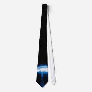 Gravata Bomba atómica azul de incandescência