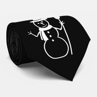 Gravata Boneco de neve com Natal dos flocos de neve