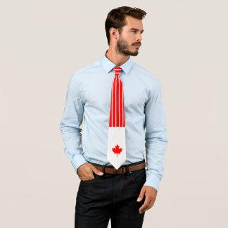 Gravata Bordo canadense em riscas vermelhas e brancas