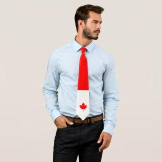 Gravata Bordo canadense em vermelho e em branco