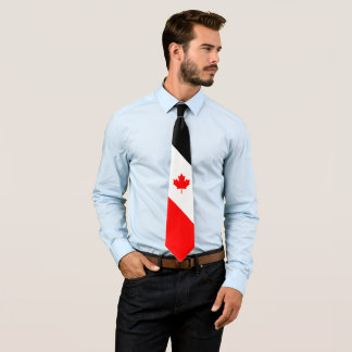 Gravata Bordo canadense no preto branco vermelho