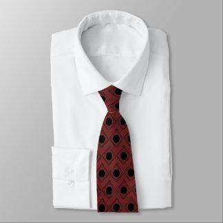 Gravata Borgonha & preto encaixotados - no laço