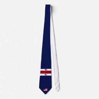 Gravata Branco da bandeira americana e azul vermelhos