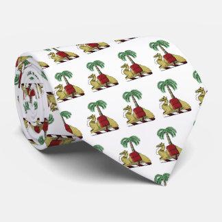 Gravata Brasão heráldica da cor da palmeira do camelo