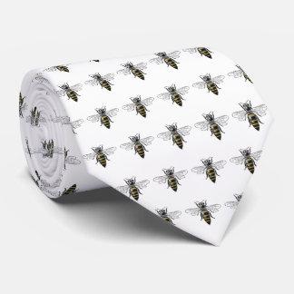 Gravata Brasão heráldica formal C da abelha #2 do vintage