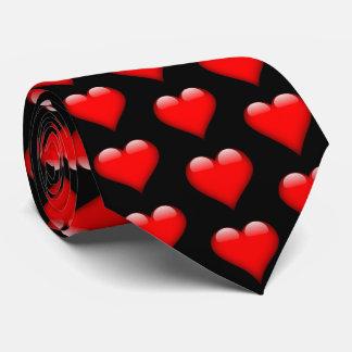 Gravata brilhante vermelha dos namorados dos