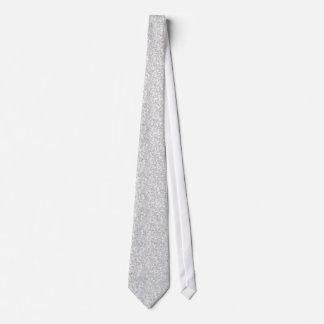 Gravata Brilho elegante & Sparkles das cinzas de prata