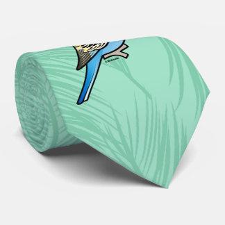 Gravata Budgie azul & amarelo