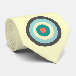 Gravata Bullseye cinzento da combinação por Shirley Taylor
