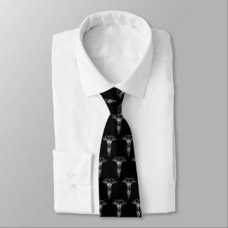 Gravata Caduceus de prata elegante elegante simples médico