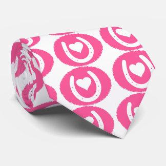 Gravata Calçados e coração cor-de-rosa do cavalo