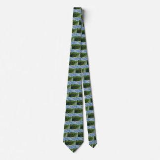 Gravata Campos de trigo verdes de Van Gogh, belas artes do