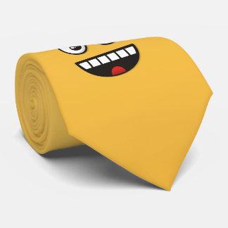 Gravata Cara de sorriso com boca aberta