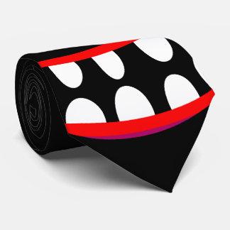 Gravata cara feliz do sorriso do monstro preto engraçado