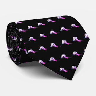 Gravata Caracol cor-de-rosa e roxo