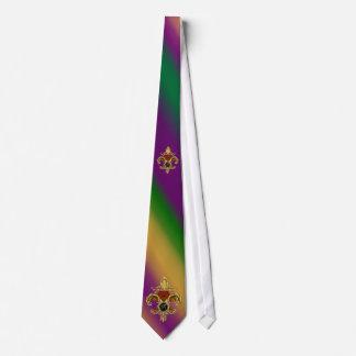 Gravata Carnaval de Monograma Fleur de Liz da R-Letra