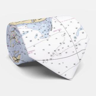 Gravata Carta náutica autêntica do Martha's Vineyard