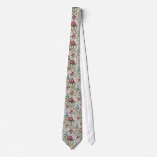 Gravata Chinese botanical pattern tie - gray