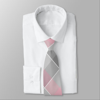 Gravata cinzas cor-de-rosa dos colorblocks geométricos