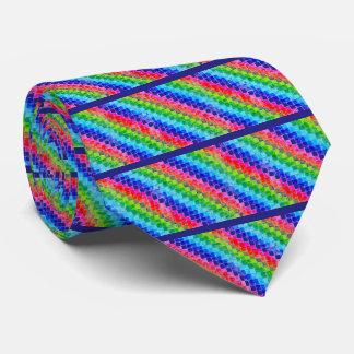 Gravata Colorido em quadrados do papel de gráfico