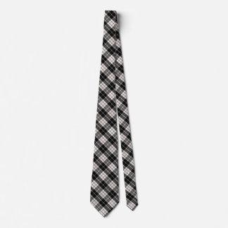 Gravata Cor customizável da xadrez preto e branco