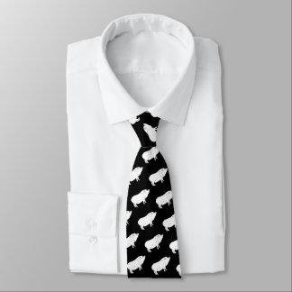 Gravata Cor preto e branco do costume do amante do bacon