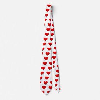 Gravata Coração vermelho perfeito dos namorados
